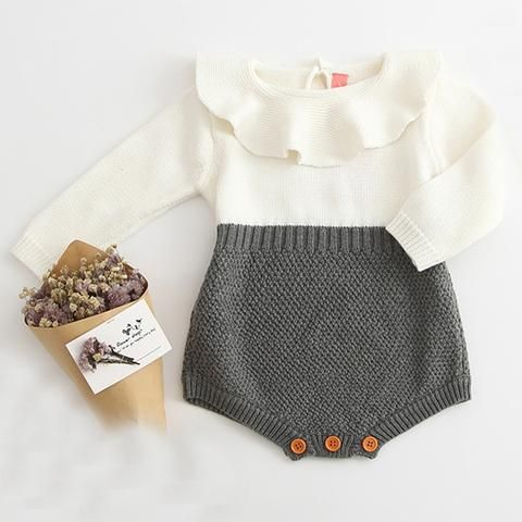 ef085a057495 New 2018 Autumn Cute Newborn Baby Girl Long-sleeved Knitting ...