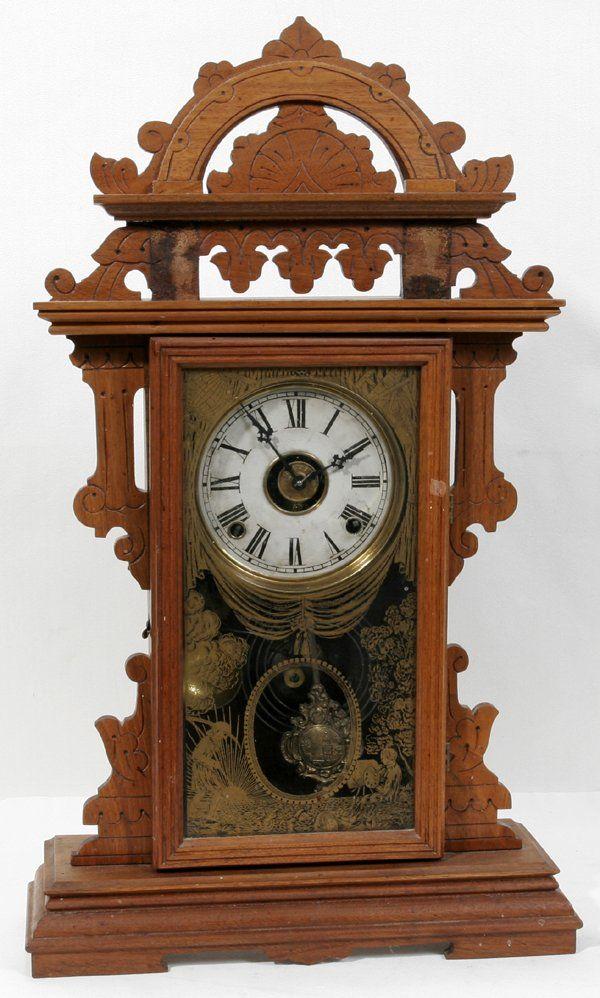 122462 Metropolitan Clock Co Eastlake Walnut Clock Dec 10 2006 Dumouchelles In Mi Clock Eastlake Mantle Clock