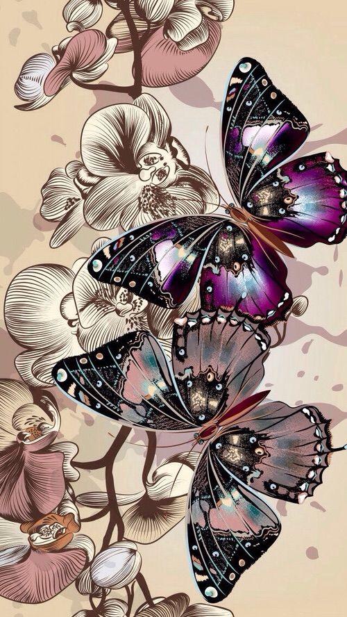 Image Via We Heart It Background Butterfly Wallpaper