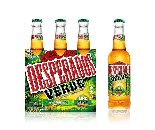 Desperados Verde Alcohol Packaging Tequila Beer Creative Packaging Design