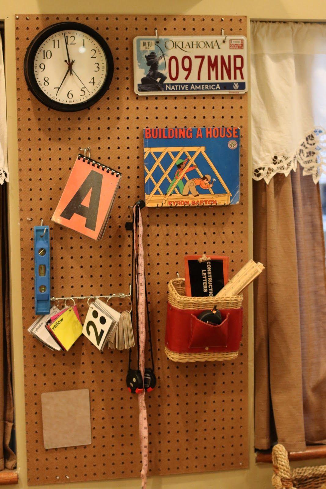 Pegboards: Brilliant Ideas for Organizing Loose Parts #curiosityapproacheyfs