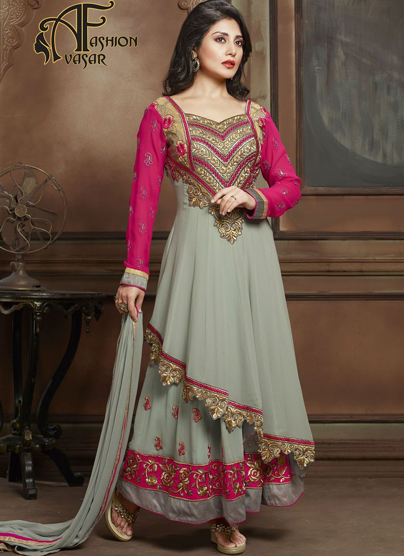 Anarkali Designer Suits Online Shopping India Georgette Fabric ...