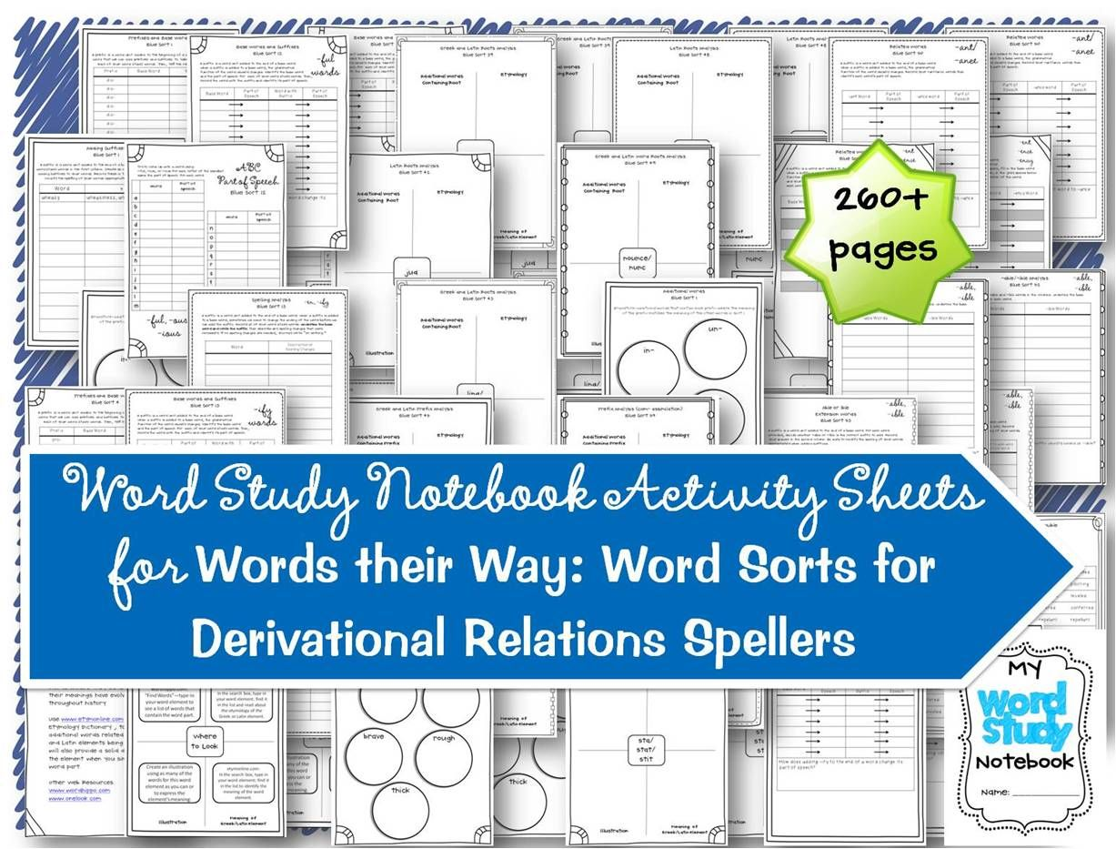 The Derivational Relations Stage - Words Their WayBy ...