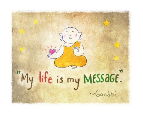 Buddha Doodle - 'Message'byMollyculesShare the Daily Love ofBuddha Doodleswith your friends! ♥ ♥