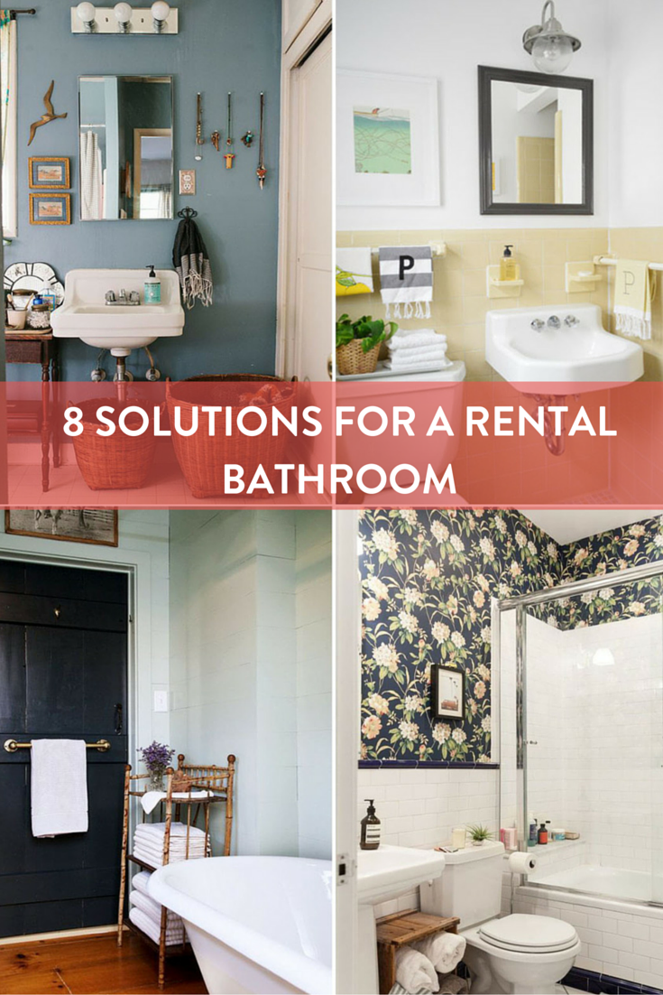 Roundup 8 Solutions To Help Your Rental Bathroom Ideas