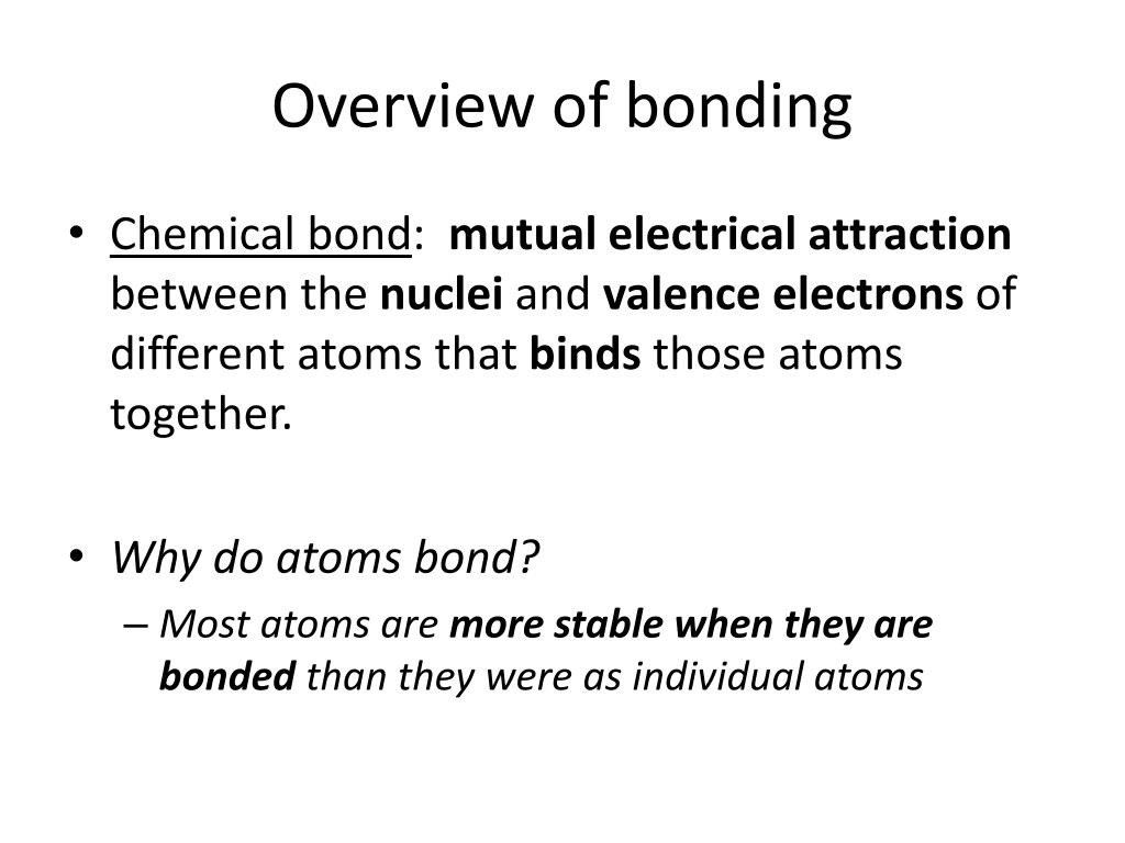 Stability In Bonding Worksheet Answers