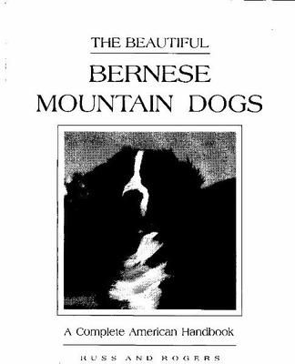 """THE BEAUTIFUL BERNESE MOUNTAIN DOGS BY RUSS AND ROGERS A MUST HAVE FOR """"BND'S"""" AND NOVICES CONSIDERING SHOWING THEM"""