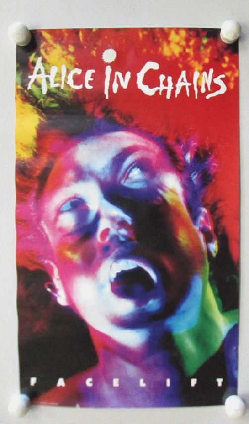 Original Promo Poster For The Alice In Chains Album Facelift From