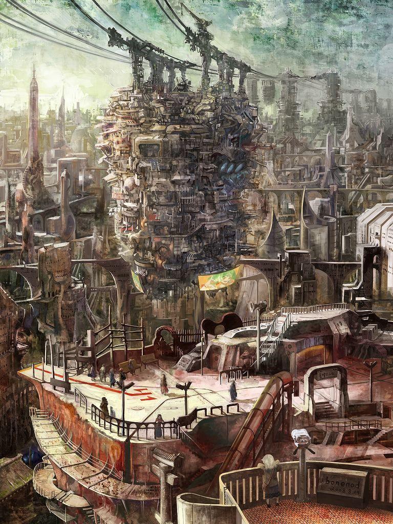 narcodigitalhedonist: 見晴らしガ丘にて [pixiv] | 背景&世界