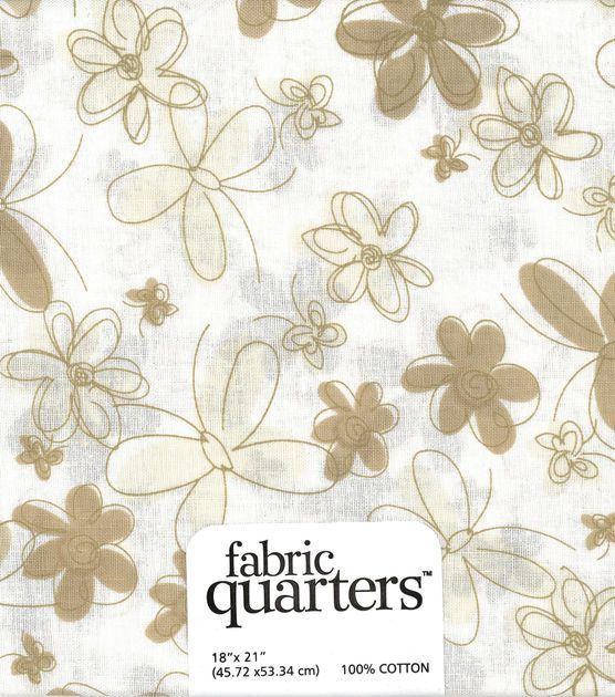 Fabric - Quarters Assorted Fabric - White