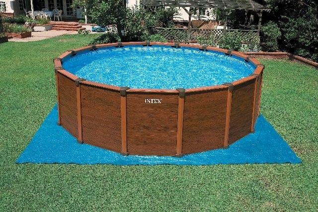 Wood panel above ground pools wood grain pools - Wood above ground pool ...