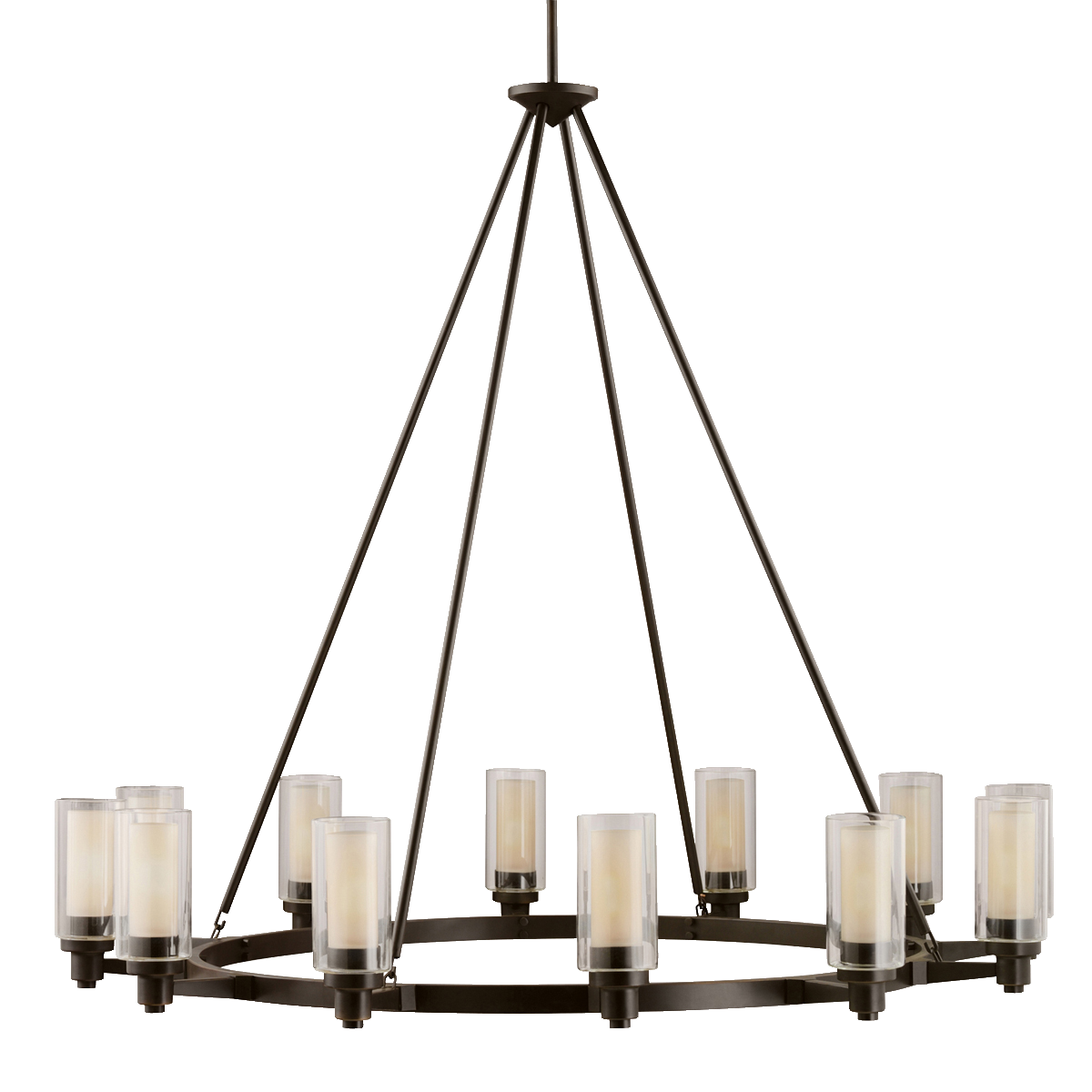 Circolo light chandelier in olde bronze oz bronze finishes