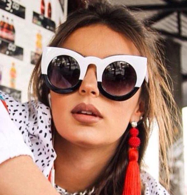 Óculos de Sol Fendi™ - Lolly - Preto   Branco 310ca3309e