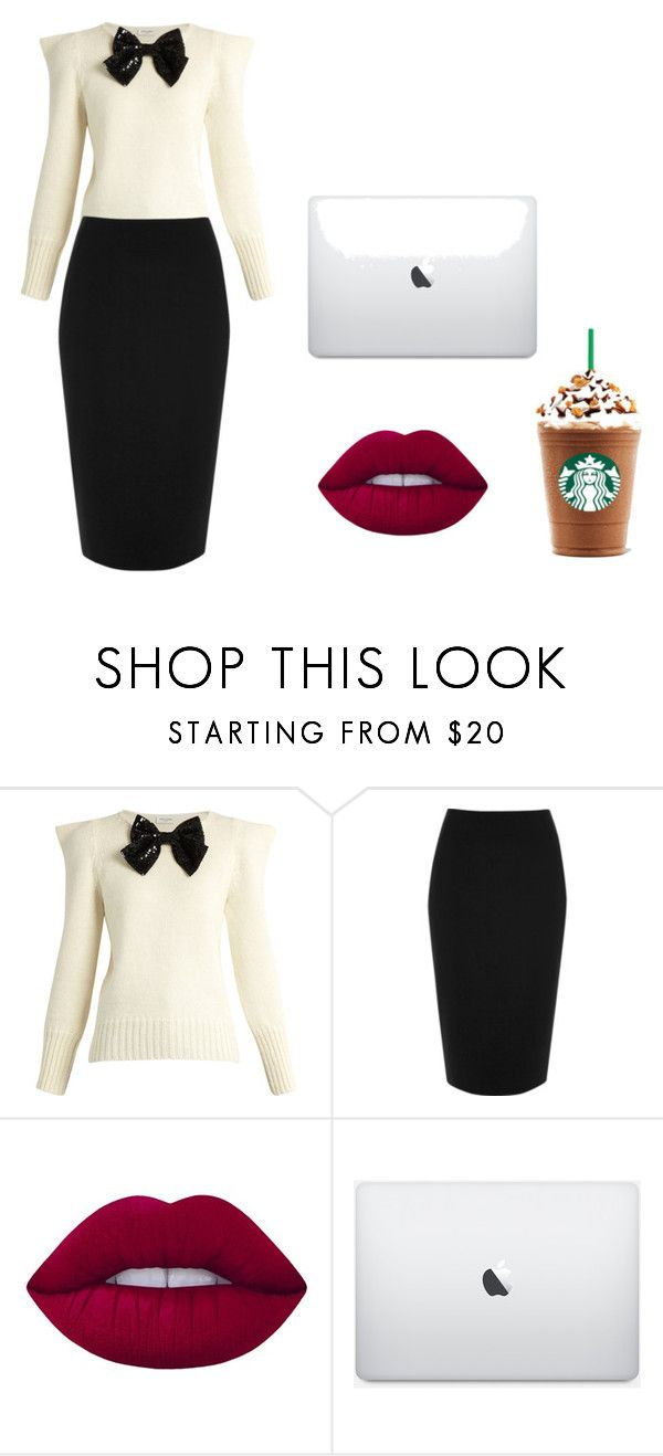 """""""i mean business"""" by nicoleshine12 ❤ liked on Polyvore featuring Yves Saint Laurent, River Island and Lime Crime"""