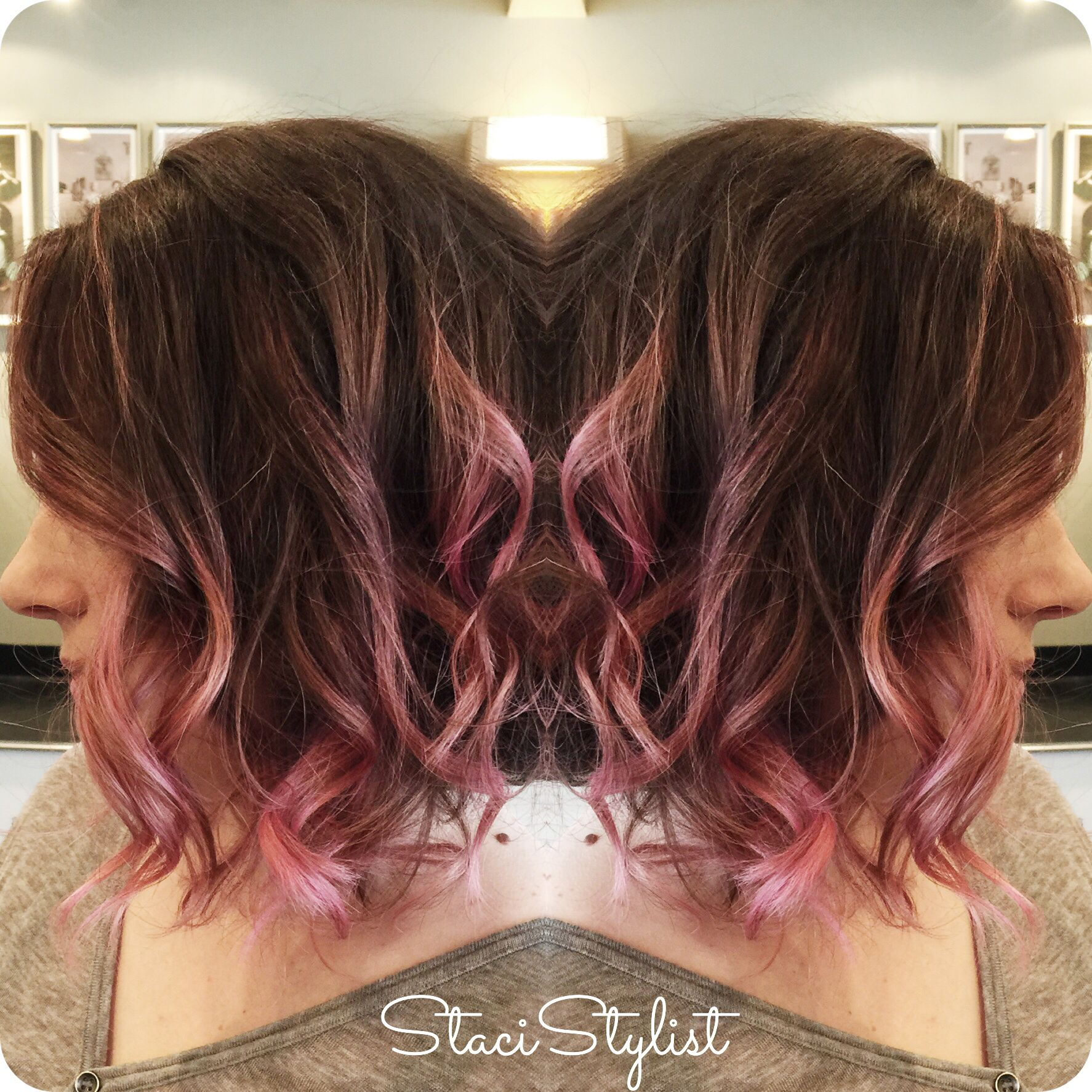 Ombre Highlights Go Pink Balayage Babylights