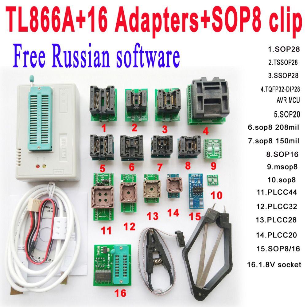 Check Discount Free Russian Software Original Minipro Tl866A