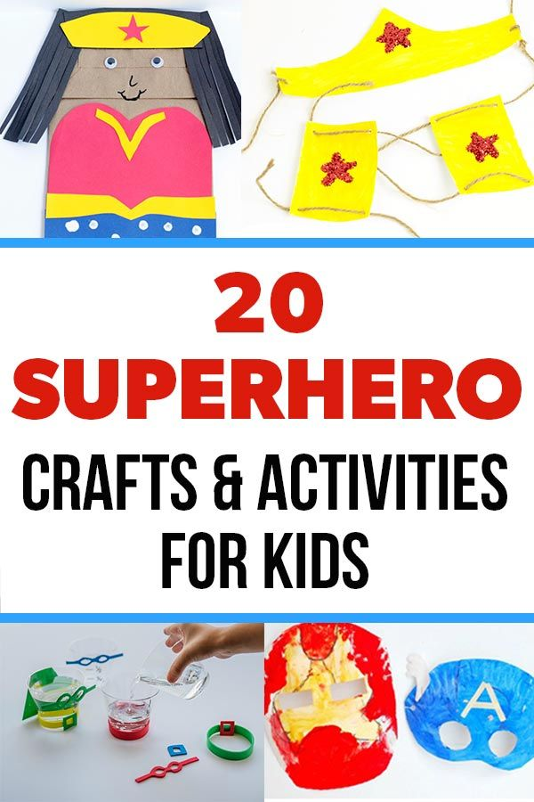 Lots of fun Superhero Activity ideas for kids!