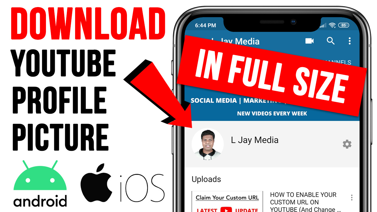 How To View/Download YouTube Profile Picture In Full Size