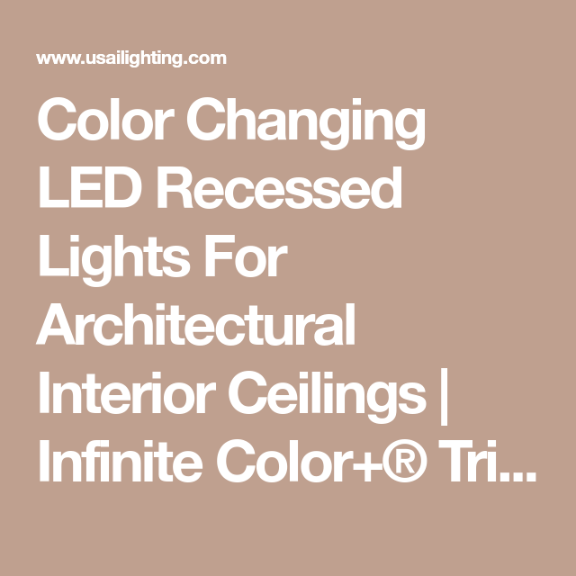 47053523045 Color Changing LED Recessed Lights For Architectural Interior Ceilings