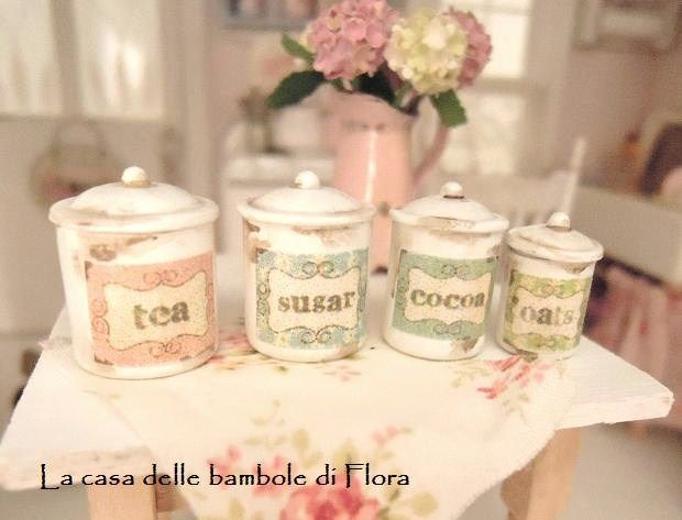 Flora's lovely Shabby canisters