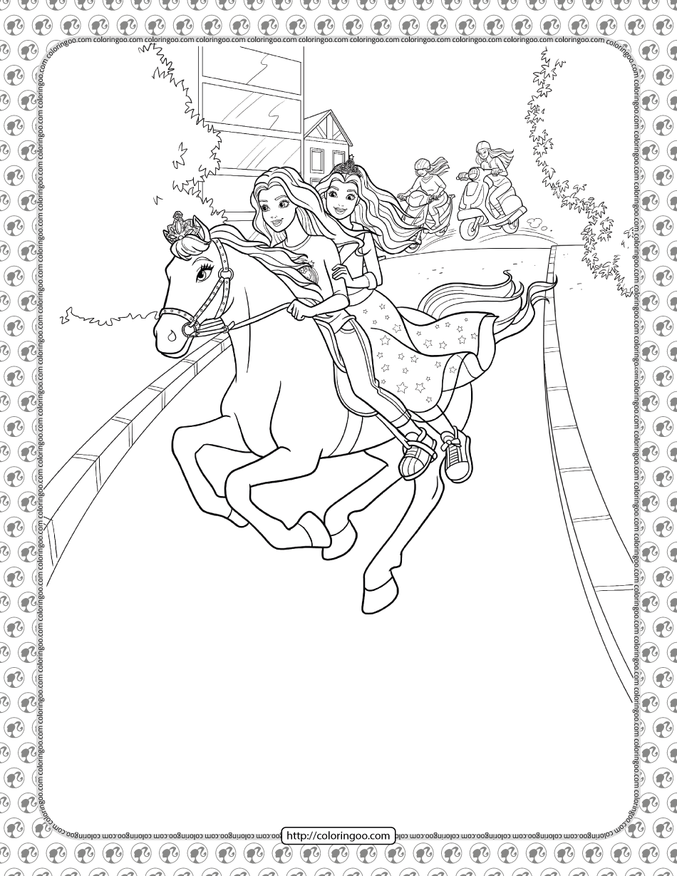 Barbie Princess Adventure Coloring Pages 31 In 2021 Princess Adventure Barbie Princess Coloring Pages