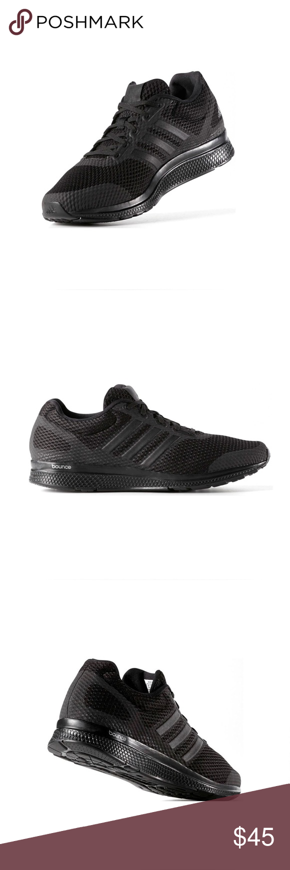 Adidas B42431 Mana Bounce Core Black Running Shoes Sleek shoes that combine  lightweight comfort and durability 4c8ccc8ab