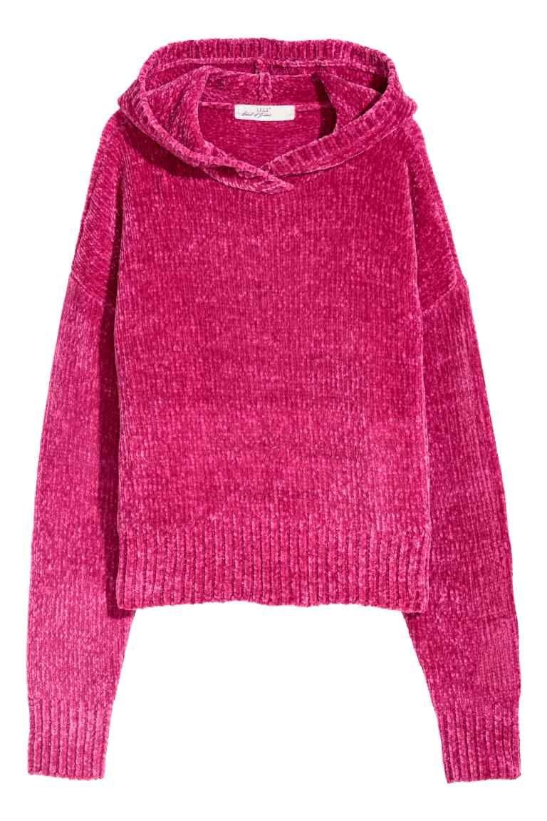 Camisola em chenille com capuz Cerise SENHORA | H&M PT