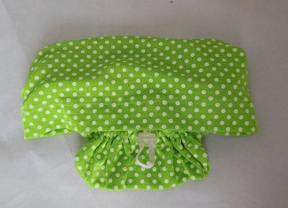 Hair Snood Green Dotted Swiss Knit Turban Spring by myscap
