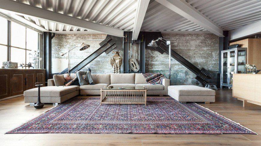 Tendance Deco Le Grand Retour Du Tapis Persan Decoration Interieure Industrielle Loft Industriel Et Tapis Persan