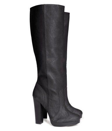 Past   Knee high platform boots