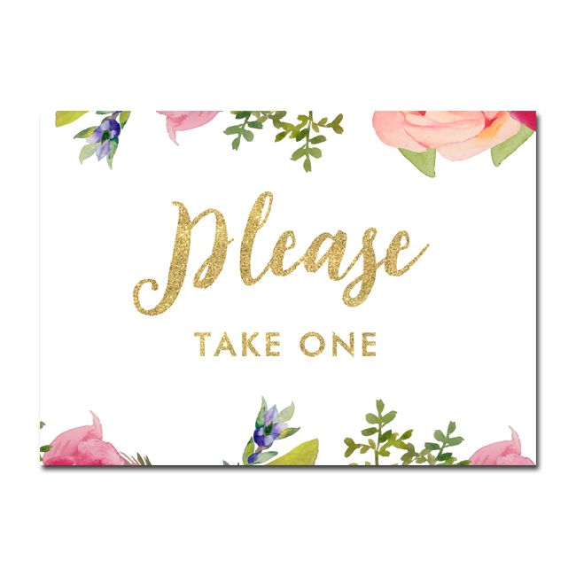 picture regarding Free Printable Please Take One Sign identify No cost Printable Wedding day Indication - You should Choose A single - Beautiful