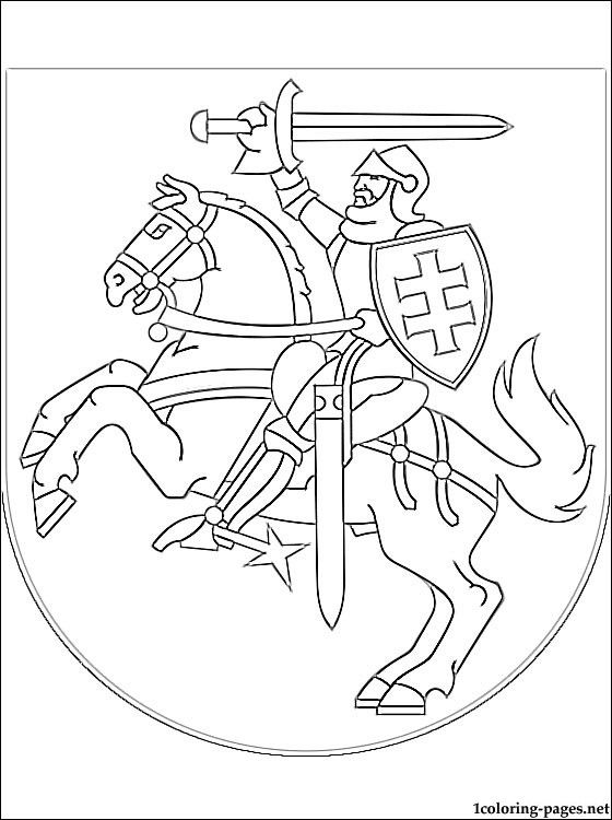 Coat Of Arms Coloring Latvia Google S 248 K
