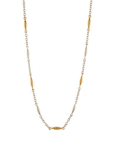 Gurhan Short Mini Wheat Station Necklace, 16L