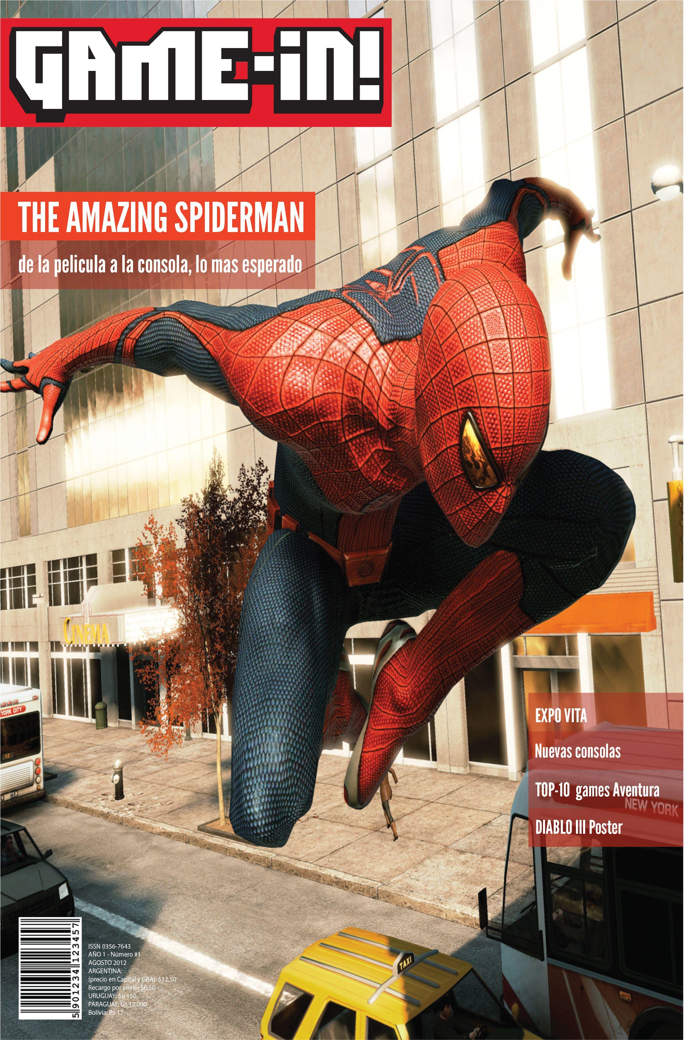 Diseño De Tapa De Revista De Video Juegos Amazing Spiderman Tapas De Revistas Video Juego