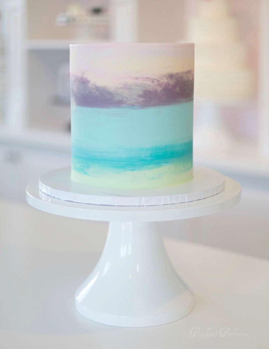 Buttercream Pastel Watercolor Cake Special Event Cakes