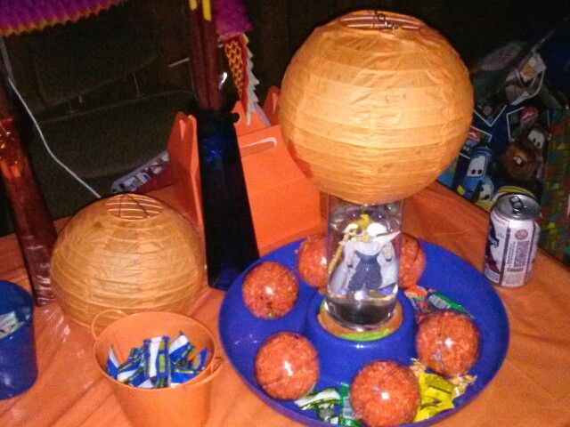 Candy Bar Table Odie S Dragonball Z Party Pinterest