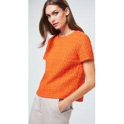 Photo of Bouclé blouse in orange windsor