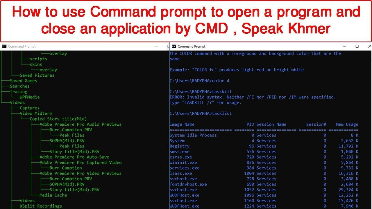 How To Use Command Prompt To Open A Program And Close An