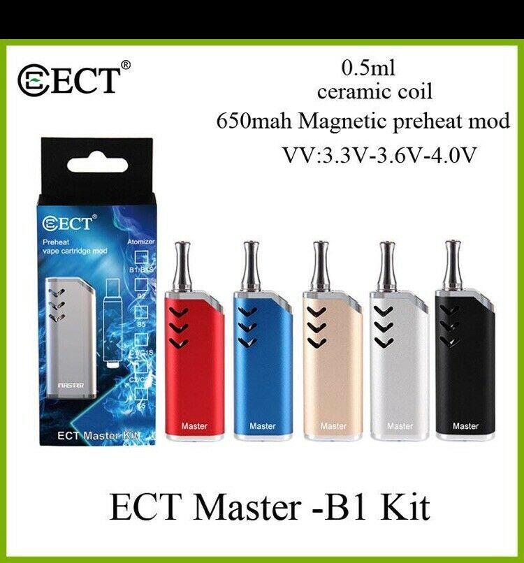 authentic ECT Master Magnetic e cigarette oil cartridge