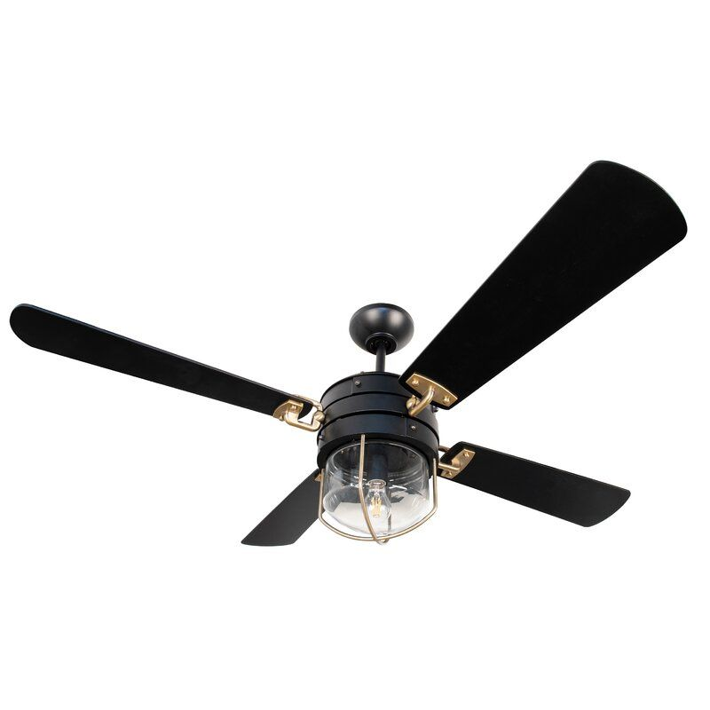 52 Efren 4 Blade Ceiling Fan With Remote Light Kit Included