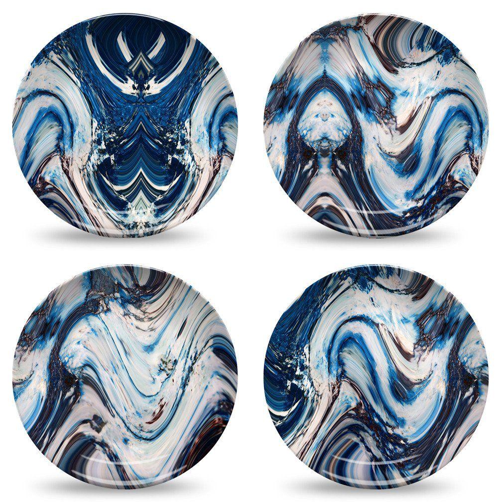 Blue Marble Dinner Plate Set by elise flashman   Dinner plate sets