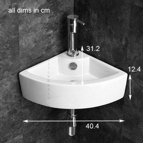 Click Basin Product Specification Image Corner Sink Bathroom Corner Basin Cloakroom Basin
