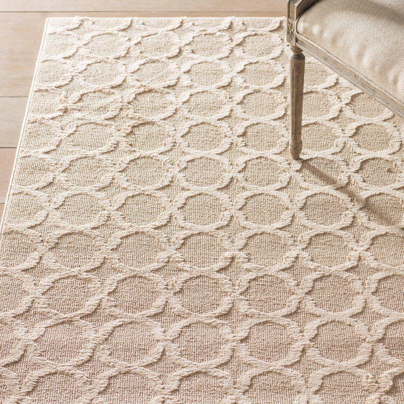 Alorton Geometric Tufted Tan Area Rug Area Rugs Rugs On Carpet Tan Rug #tan #living #room #rug