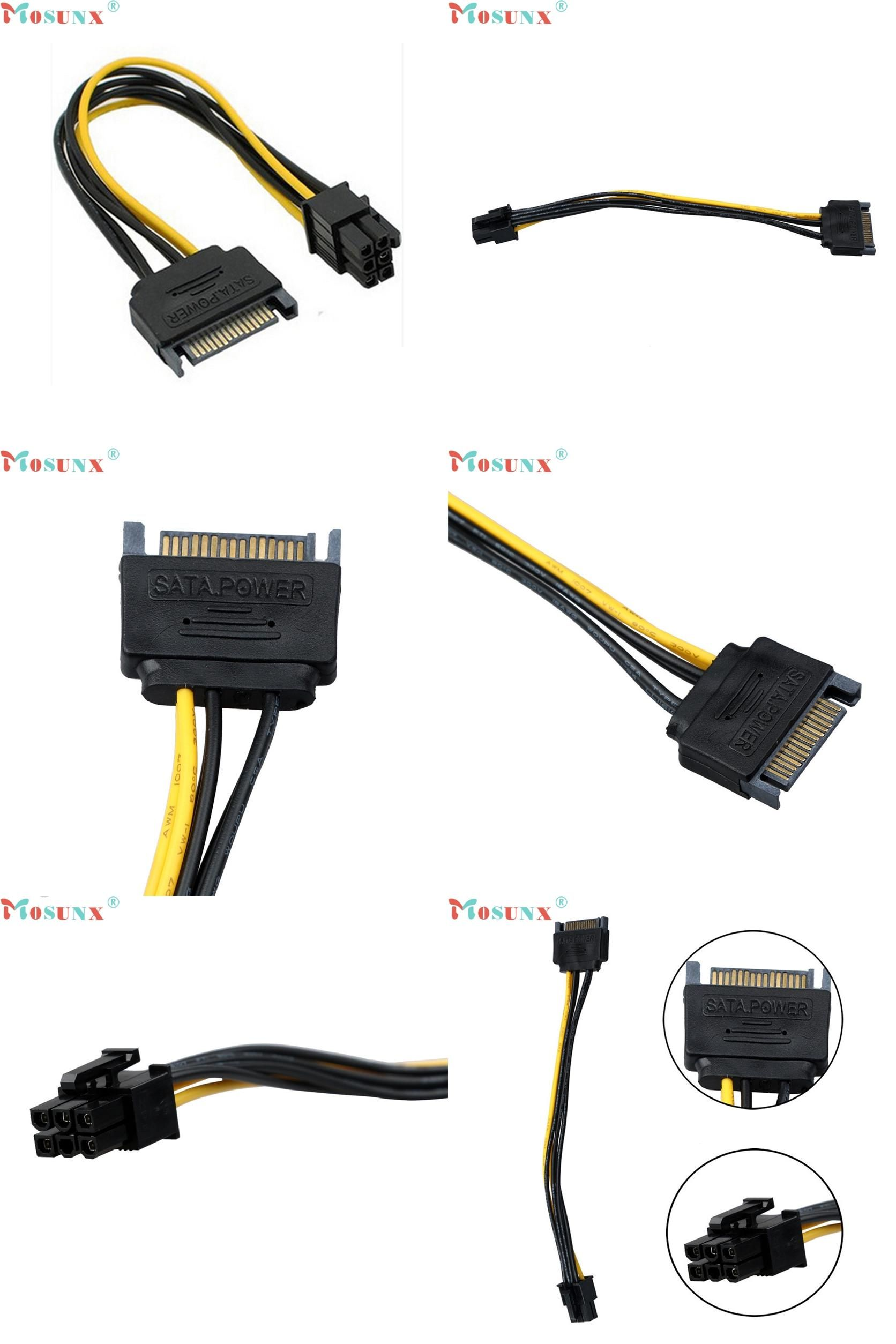 medium resolution of  visit to buy sata power cable 15 pin to 6 pin pci express pci