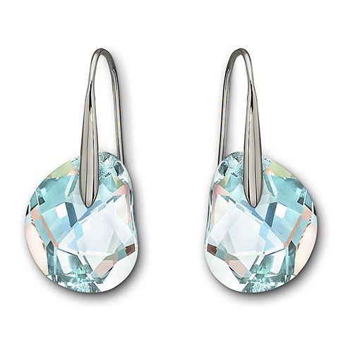 Swarovski S Galet Light Azore Blue Pierced Earrings Are Just