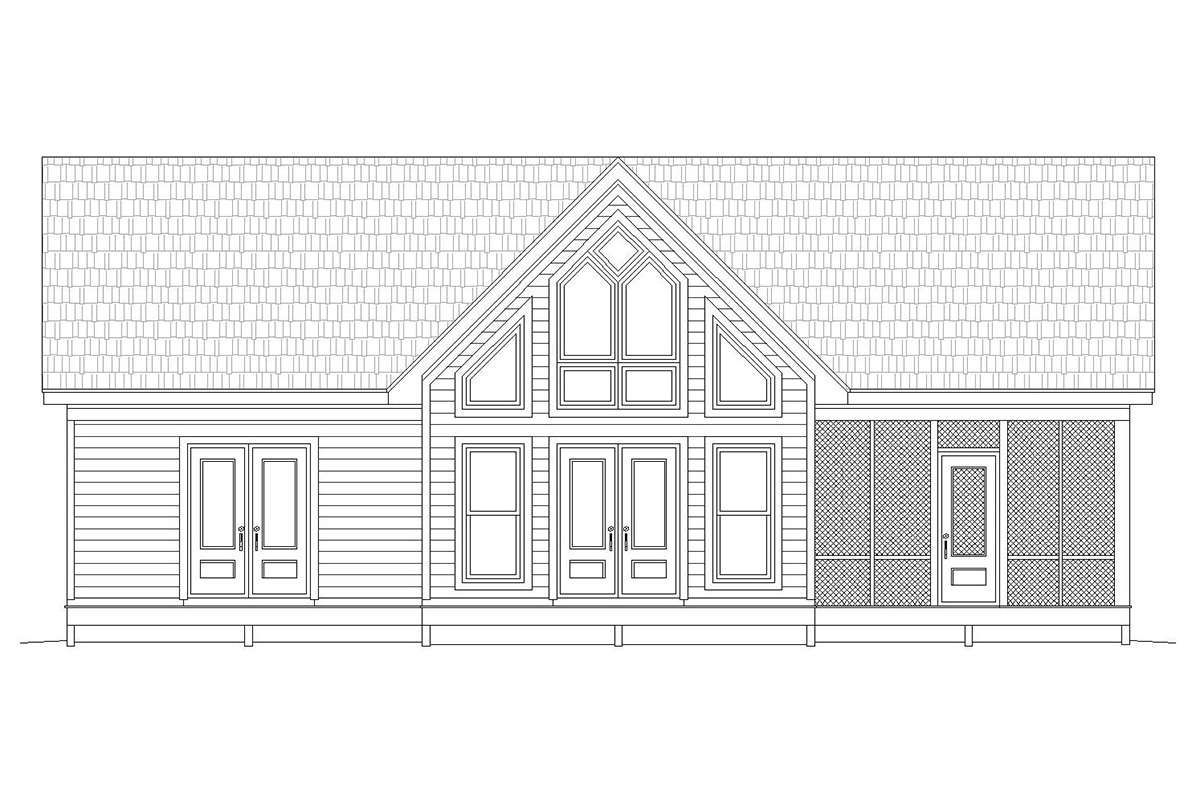 House Plan 940 00077 Cottage Plan 1 273 Square Feet 2 Bedrooms 2 Bathrooms Cottage Plan House Plans Cabin House Plans