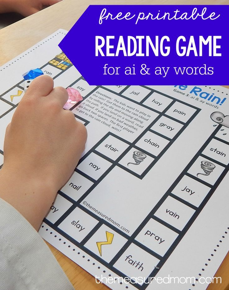 Free Reading Game For Ay And Ai Words Teaching Reading