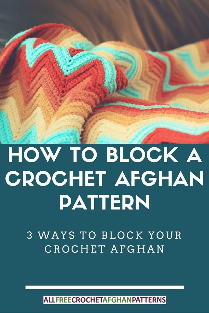 How to Block a Crochet Afghan Pattern | Cobija, Manta y Puntadas
