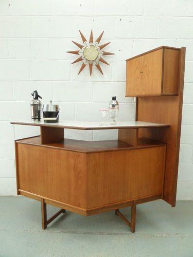 retro vintage 50s 60s turnidge teak cocktail home drinks bar cabinet danish era ebay