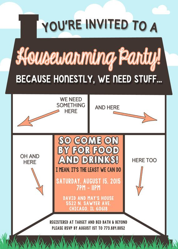 Funny Housewarming Invitation by LilygramDesigns on Etsy – Funny Housewarming Party Invitations